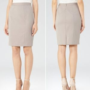 Reiss Truman Gray Pencil Skirt